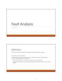 fault analysis note pdf