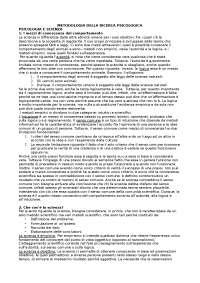 Elementi di metodologia della ricerca psicologica