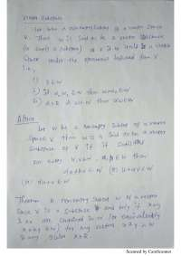 handwritten note on vector subspace