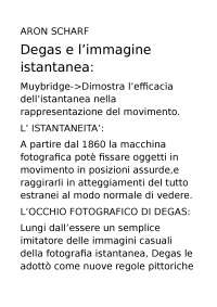 DEGAS E L'IMMAGINE ISTANTANEA