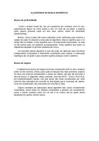 ALGORITMOS DE BUSCA HEURÍSTICA