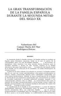 la gran transformacion de la familia española durante la ...