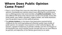 Where Does Public Opinion Come From