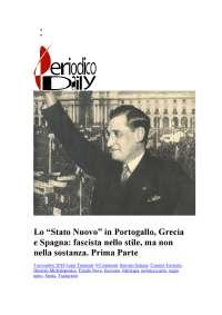 Lo stato Nuovo in Portogallo - Grecia e Spagna