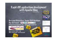 Rapid JCR application development through Apache Sling