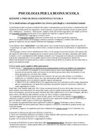 Psicologia per la buona scuola, Schemi e mappe concettuali di Psicologia Dello Sviluppo