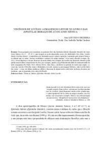 VESTÍGIOS DE LUCÍLIO: A IMAGEM DO LEITOR NO LIVRO I DAS EPISTULAE MORALES DE LÚCIO ANEU SÊNECA