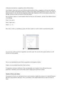 Industrial Organization 3 (notes)