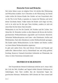 Тексты по немецкому языку