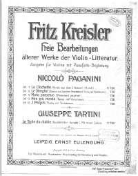 Spartito di Kreisler