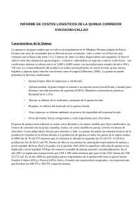 INFORME DE COSTOS LOGISTICOS DE LA QUINUA CORREDOR AYACUCHO-CALLAO