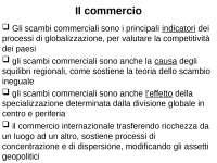 Geografia econimica:il commercio