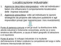 Geografia economica: localizzazione Industriale