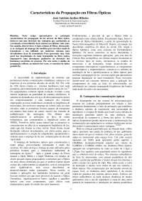 Artigo - 1999 - Características da Propagação em Fibras Ópticas