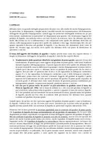 Appunti Diritto Processuale Civile