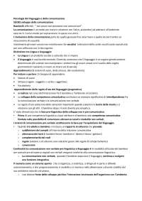 Appunti psicologia del linguaggio e della comunicazione - Collina