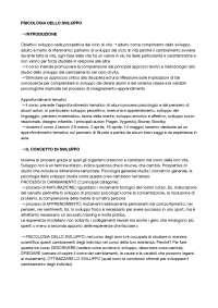 APPUNTI DI PSICOLOGIA DELLO SVILUPPO (2019) - Formazione Primaria, prof. Farina