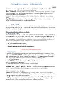 Appunti di tutte le lezioni di Geografia economica e dell'educazione