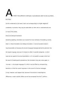 Methodology for Translation- Flavia Cavaliere