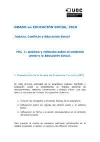 justicia pec 1. educación social
