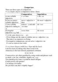 Appunti di grammatica inglese primo anno