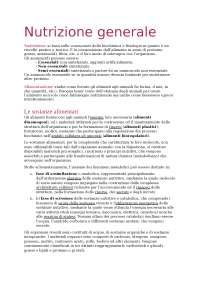 Nutrizione ed alimentazione - ESONERO 1