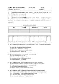 Examen final Macroeconomía