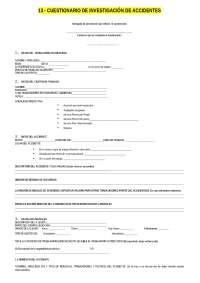 Cuestionario de Investigacion de Accidentes