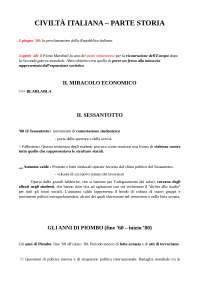 Civilisation Italienne - Partie Histoire
