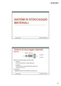 Sistema di stocaggio