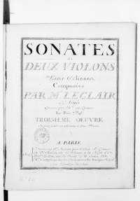 6 sonate di J.Leclair