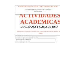Gestion de actividades academicas