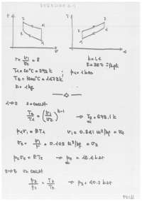 Solutions of exercises of the fourth chapter in thermo