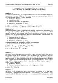 Exercises of the third law in thermodynamics