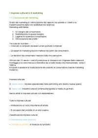 Appunti Marketing delle arti e della cultura
