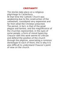 Notes on Cristianity in english