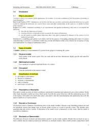 Modsim Simulation Notes
