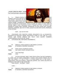 Solemnidad a Cristo Rey