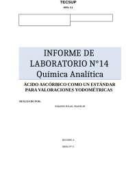 Informe 14 Química A.C