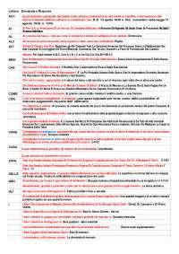 Estimo - elenco domande in ordine alfabetico