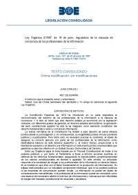 Tema 6 derecho a la información