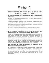 FICHA DE TRABAJO CIVICA Y ETICA NORMAL
