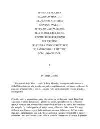 Slavorum apostolum Papa Giovanni Paolo II Diplomazia pontificia