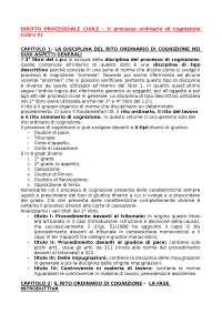 Riassunto Diritto Processuale Civile Mandrioli Carratta Volume II (Ultima edizione)