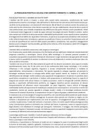 LA PSICOLOGIA POSITIVA A SCUOLA E NEI CONTESTI FORMATIVI - S. SORESI, L. NOTA