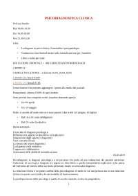 Appunti lezioni Psicodiagnostica aa 2018/2019
