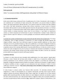 La censura in Italia - riassunto completo