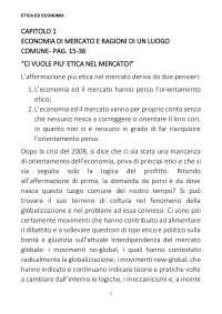 Etica ed economia Appunti e riassunto libro