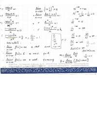 Formulario sui Limiti, Integrali, Funzioni Differenziali