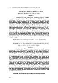 Formiranje preduzetnickog sloja u postsocijalistickoj crnoj gori